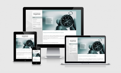 Website Psychotherapie Vogelaar