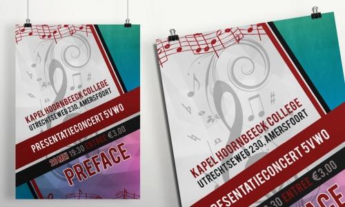 Muziekposter presentatieconcert 5VWO