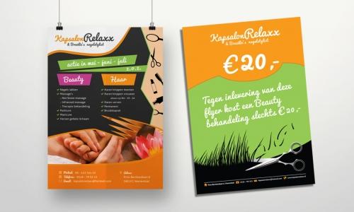 Flyer zomeractie Kapsalon Relaxx Veenendaal