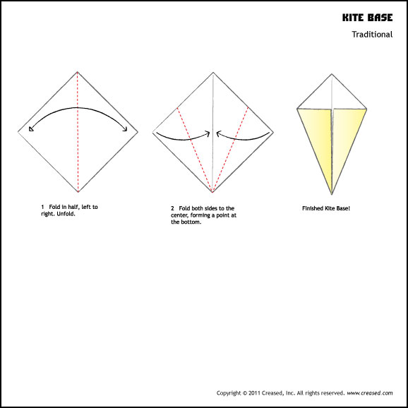 Step by step instructions on how to make a kite