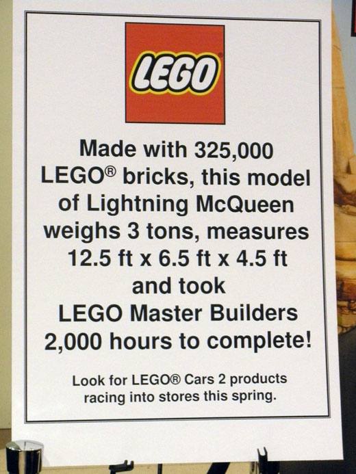 LEGO Lightning McQueen Car Model Toy Fair 2011