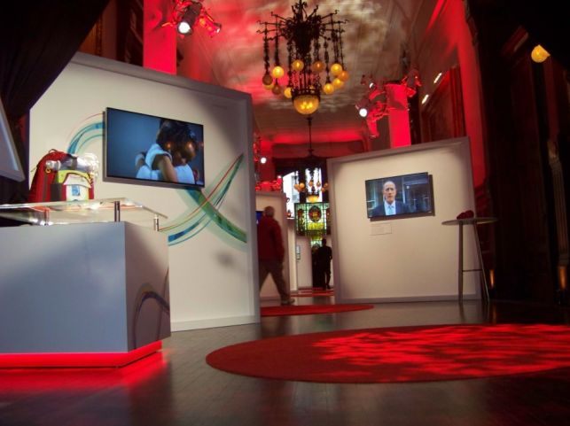 Custom event for Johnson & Johnson by New York-based Creatacor, a custom trade show and events specialist.