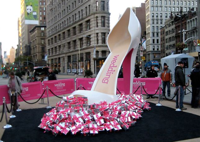 Custom fab shoe in Times Square