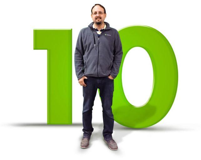 Brandon - 10 Years of service to Creatacor