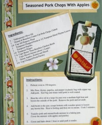 Seasoned Pork Chops With Apples - Recipe Scrapbook Layout