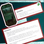Green Beans With Garlic and Basil - Recipe Scrapbook Layout at Create With Joy