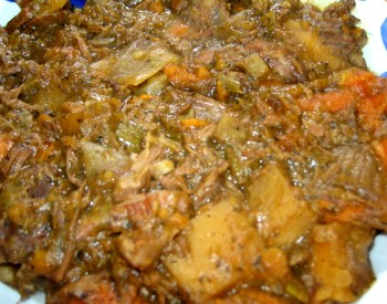 Maple Beef Stew - Close-Up