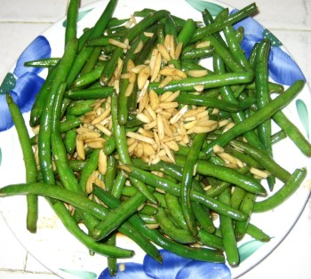 Green Beans & Almonds - Asian Style