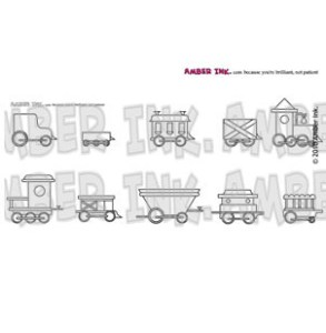 Amber Ink - It's A Train Set Stamp Set