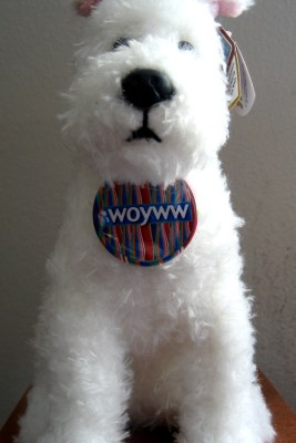 Rocking the WOYWW Button at Create With Joy