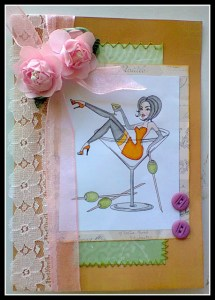 Lexi @ Newbie Crafter - Martini Pin-Up Card