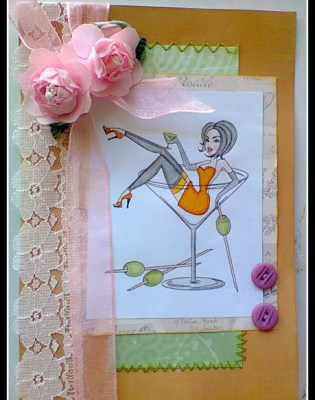 Lexi @ Newbie Crafter - Martini Pin-Up Card