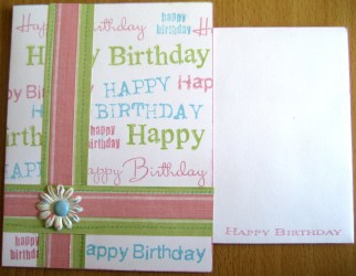 Birthday Card with Coordinating Envelope