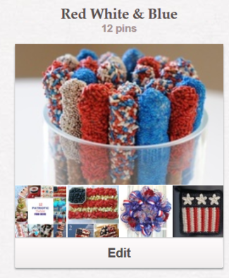 Create With Joy - Pinterest - Red White Blue Board