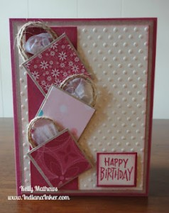 Shopping Bag Card - Kelly The Indiana Inker