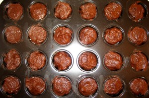 Brownie Bites, Step 3 - Filling The Pan