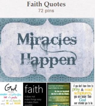 Faith Quotes - Pinterest Board