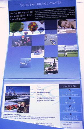 Cloud 9 Gift Folio