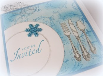 Snowflake Dinner Invitation - Donna Heber