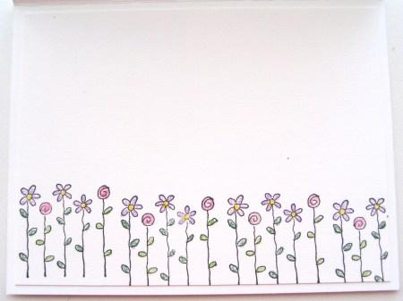 Flower Power Card - Interior