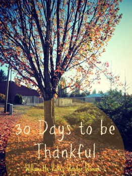 30 Days To Be Thankful Challenge