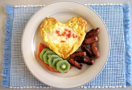 Heart Shaped Frittatas - Ready To Serve