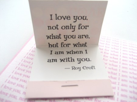 Love Card Matchbook Quote