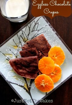 Eggless Chocolate Crepes