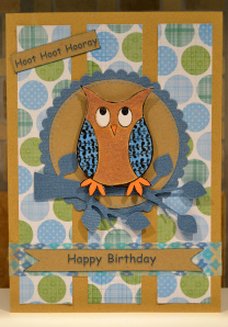 Happy Birthday Owl Card