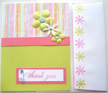 Spring Infused Thank You Card w Envie 2