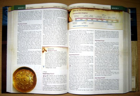 Chronological Study Bible NIV - Sample Pages