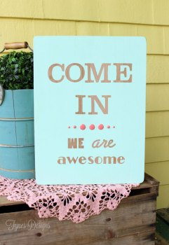 Hand-Painted Wood Sign Tutorial