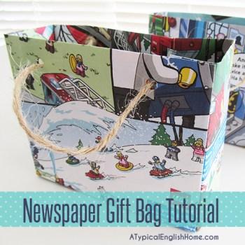 Newspaper Gift Bag Tutorial