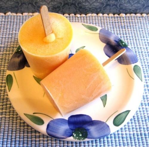 Peach Mango Popsicles