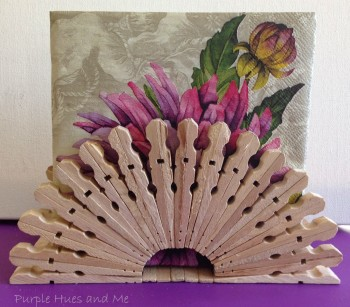 Clothespin Napkin Holder
