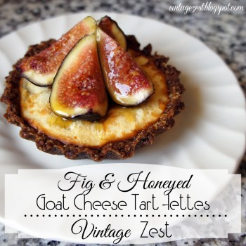 Fig & Honeyed Goat Cheese Tartlettes