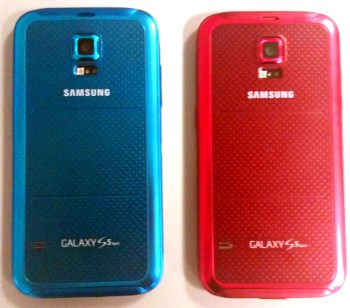 Samsung Galaxy S5 Sport in Electric Blue & Cherry Red