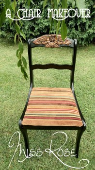 Chair Makeover by Miss Rose