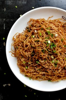 Honey Hoisin Pan Fried Noodles