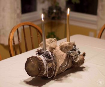 Shabby Chic Yule Log