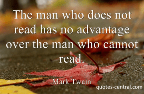 The Man Who Doesnt Read Quote