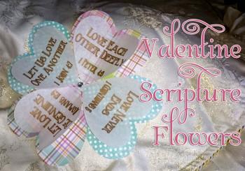 Valentine Scripture Flowers