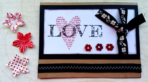 Sophisticated Love Card with Flowers