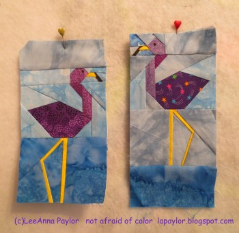 Purple Flamingos