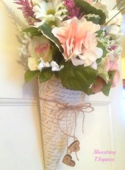Vintage Floral Cone - Shoestring Elegance