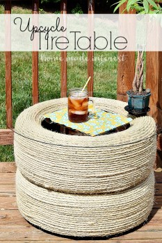 Upcycle Tire Table