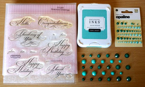 Embellishments for Swirls and Pearls Card