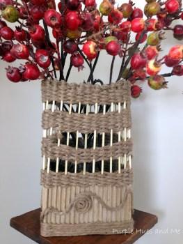 Corrogated DIY Box Vase