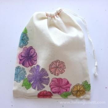 Watercolor Muslin Bag