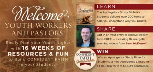 Apologetics Study Bible For Students - Ministry Resource Banner